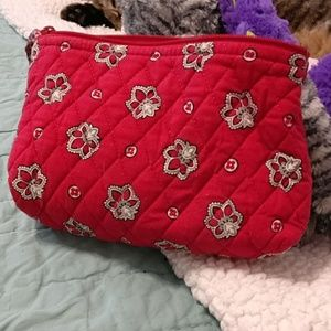 Vera Bradley small cosmetic bag in red bandana ret